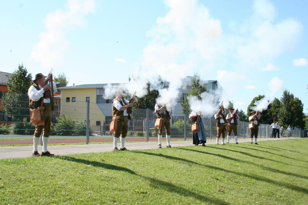 Böllerschützen Vorführung